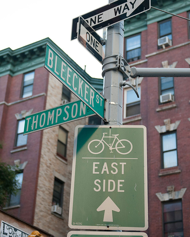 Bleecker and Thompson Streets Intersection