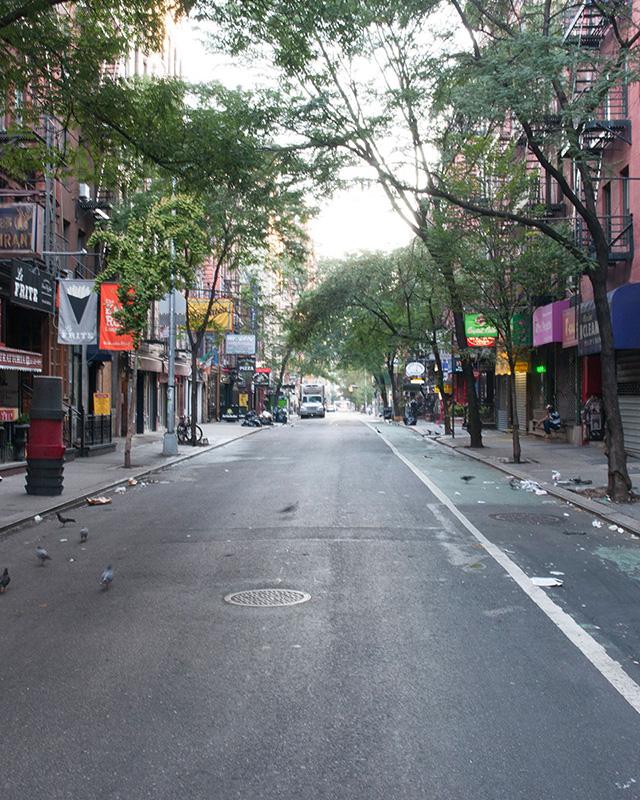 MacDougal Street between Bleecker and Minetta Lane
