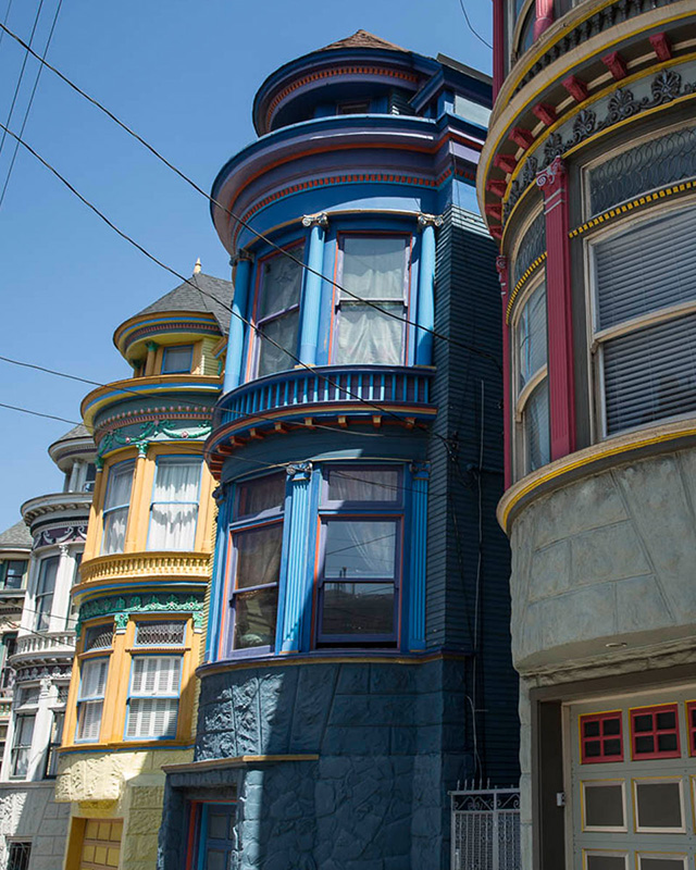 Painted Ladies Victorian Houses