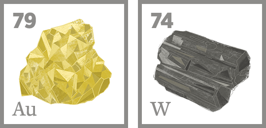 Gold and Tungsten