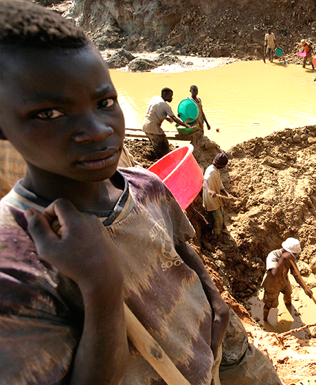 The mining industry relies on the work of child soldiers and most of the yield is used to fund local militias.